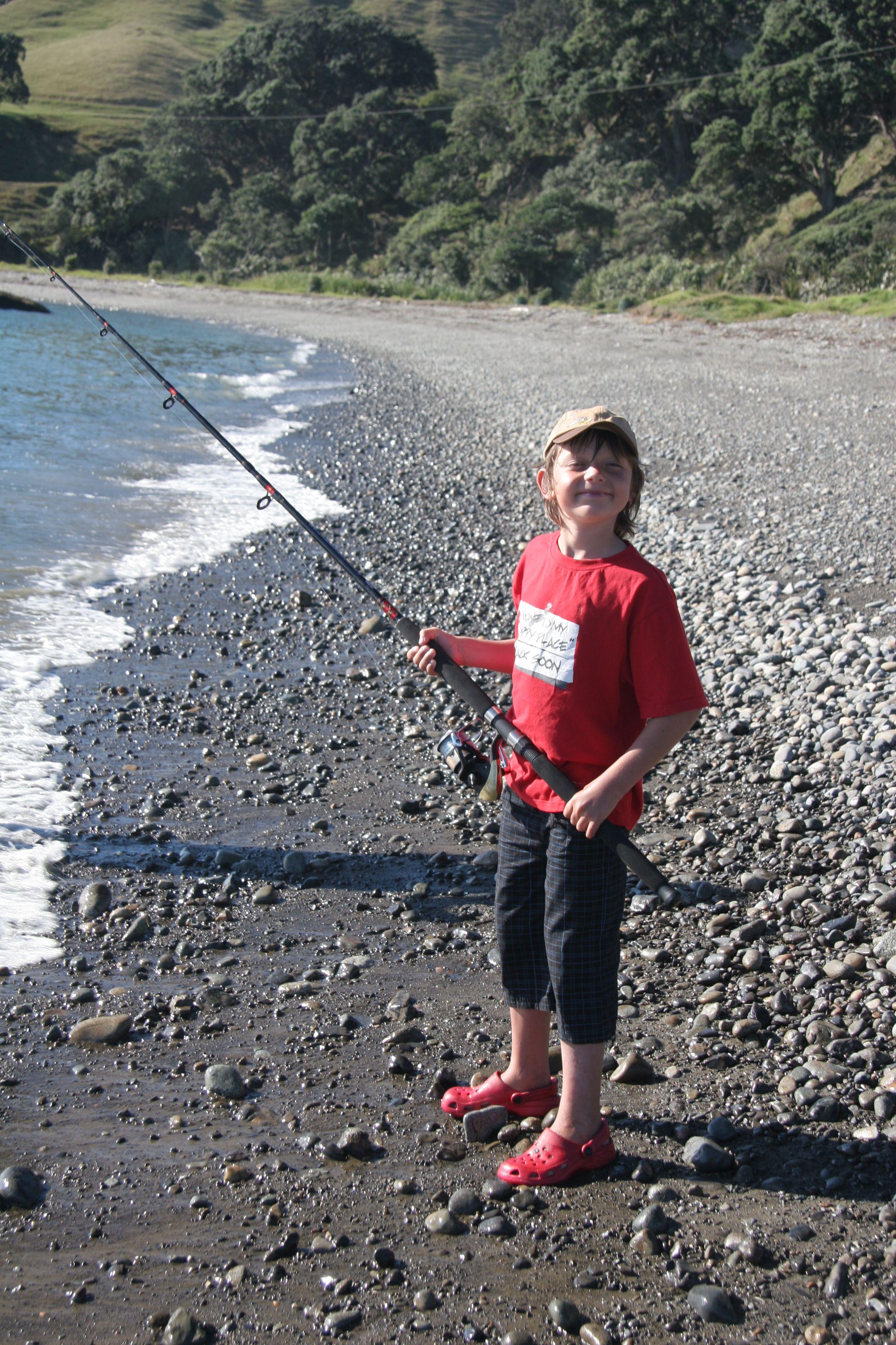 Aonghas fishing